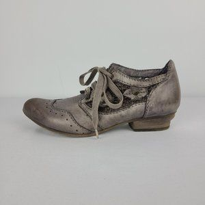 Rovers Grey Leather Lace Lace Up Shoes Size 6